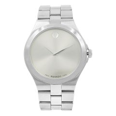 Movado Serio Museum Silver Sunray Dial Steel Men's Quartz Watch 0606556