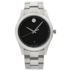 Movado Sportivo Museum Steel Black Concentric Dial Quartz Men's Watch 0606481