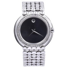 Movado Stainless Steel Diamond Trembrili Watch