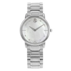 Movado TC Diamond Mother of Pearl Dial Steel Quartz Ladies Watch 0606691
