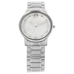 Movado TC Museum Steel Mother of Pearl Diamond Dial Quartz Ladies Watch 0606691