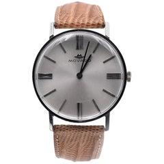 Movado Vintage 14 Karat White Gold Watch on Strap