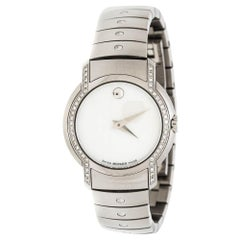 Movado White Mother of Pearl Stainless Steel Diamonds SL 84 G4 1832 S Women's Wr