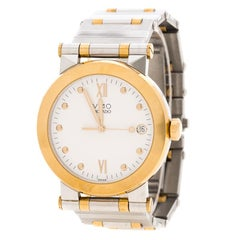 Movado White Two Tone Vizio Men's Watch 35MM