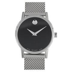 Movado Women's Museum Classic Black Dial Stainless Steel Watch 0607220