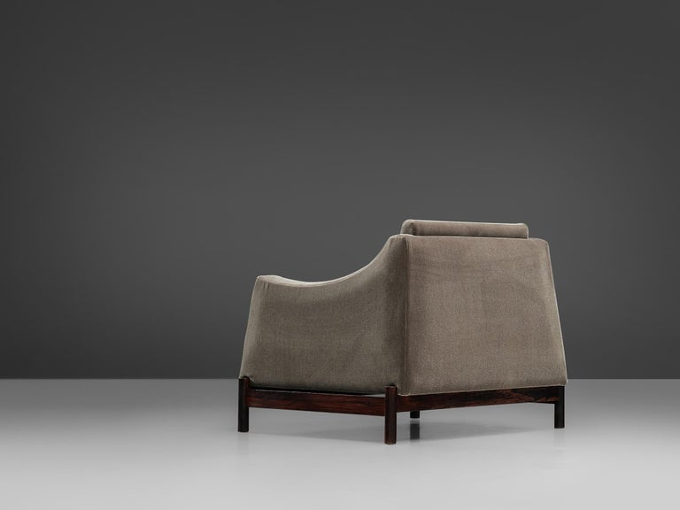 Mid-20th Century Móveis Cimo Lounge Chair in Antracite Velvet For Sale