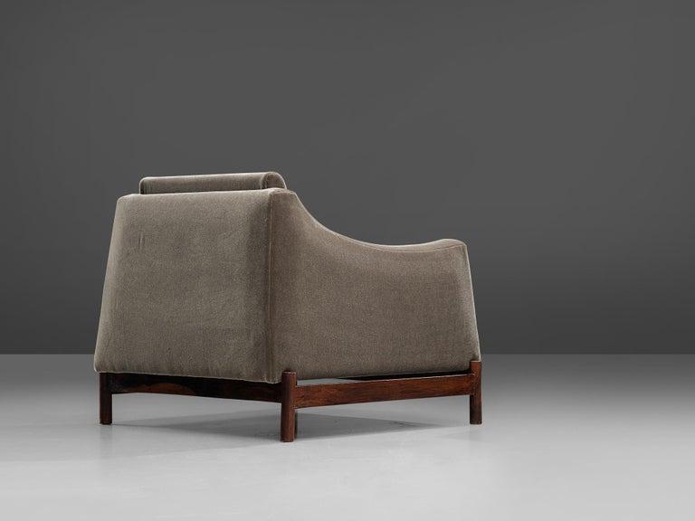 Móveis Cimo Lounge Chair in Antracite Velvet For Sale 1