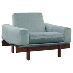 Móveis Cimo Square Lounge Chair, Jacaranda Rosewood, Brazilian Midcentury