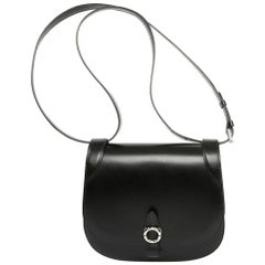 "Moynat  ""Mignon"" Handbag Crossbody in Black Calf"