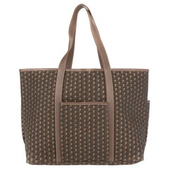 Moynat Paris Tote bag in monogram canvas and grey leather , brand new !