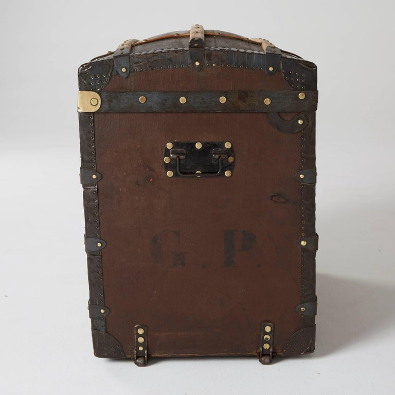 French Moynat Steamer Trunk, Restored, France circa 1920s For Sale