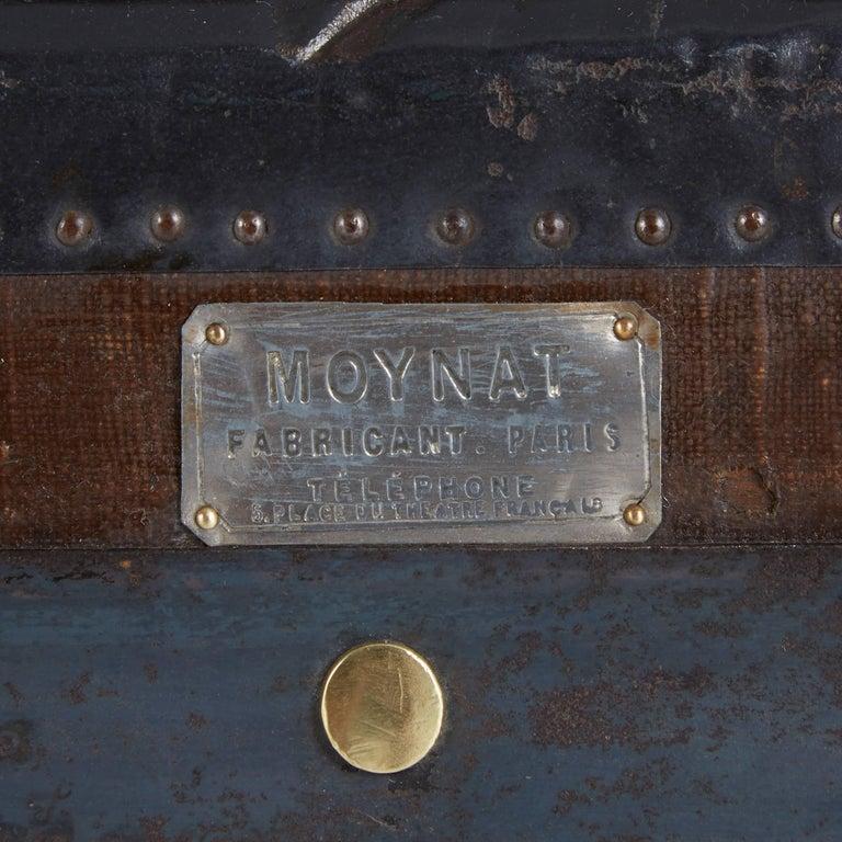 20th Century Moynat Steamer Trunk, Restored, France circa 1920s For Sale