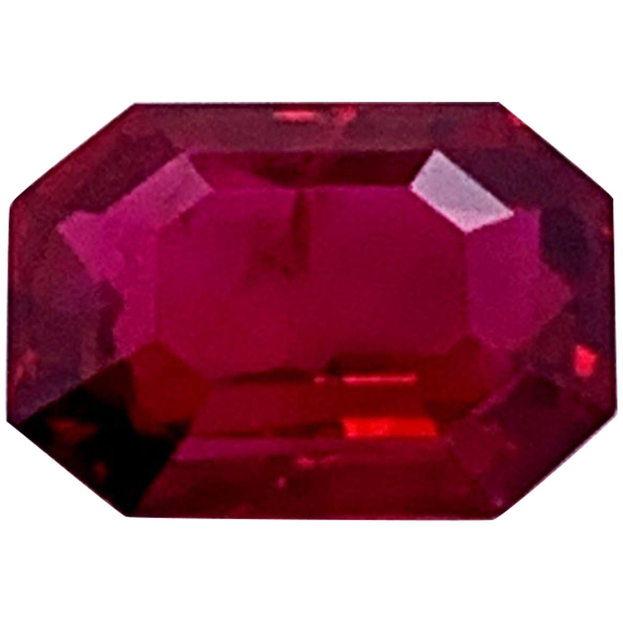 Mozambique Natural Ruby Pigeon Blood 5.38 Carat
