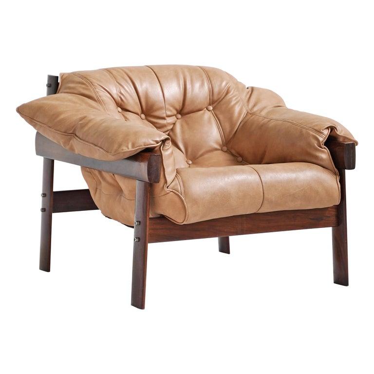 MP-41 Lounge Chair by Brazilian Designer Percival Lafer for Móveis Lafer For Sale