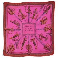M.Petard Pink Silk Scarf Sabres et Epees de Cavalerie Ancien Regime