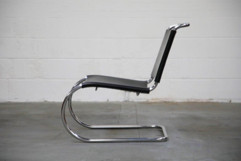 Mid-Century Modern MR 30/5 Lounge Chairs by Mies van der Rohe for Knoll International, Signed Pair For Sale