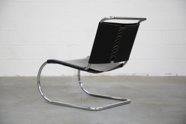 MR 30/5 Lounge Chairs by Mies van der Rohe for Knoll International, Signed Pair In Excellent Condition For Sale In Los Angeles, CA