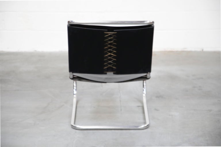 Leather MR 30/5 Lounge Chairs by Mies van der Rohe for Knoll International, Signed Pair For Sale