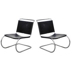 MR 30/5 Lounge Chairs by Mies van der Rohe for Knoll International, Signed Pair