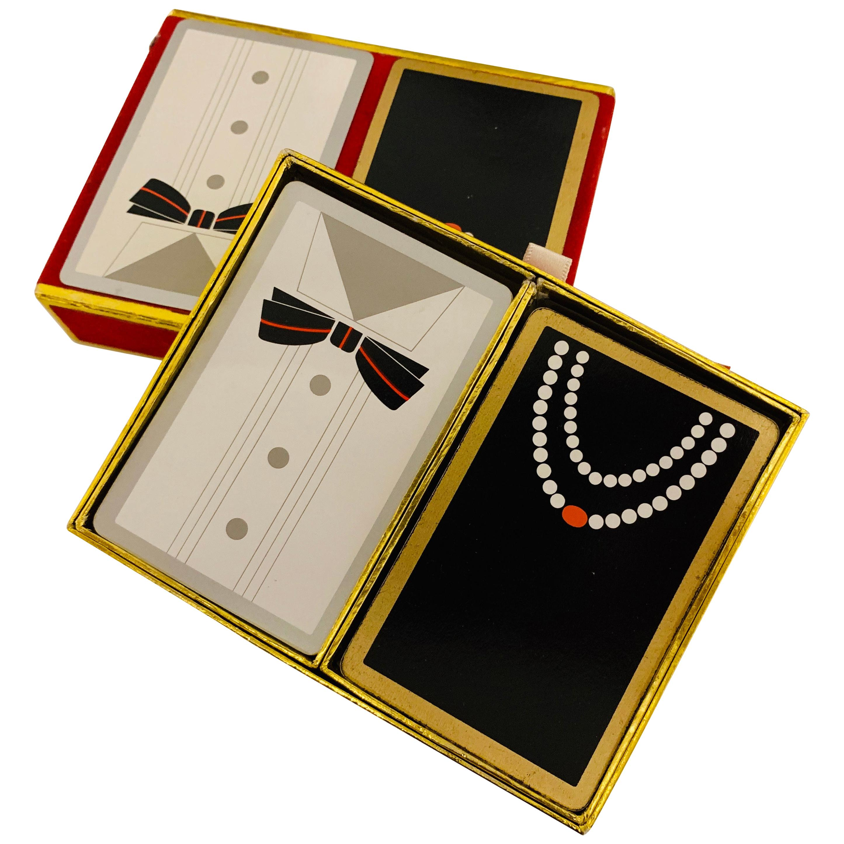 Mr. and Mrs. Black Tie Playing Cards