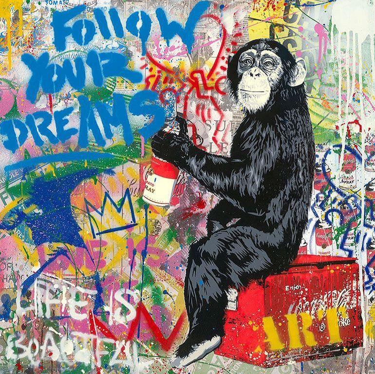 Everyday Life - Mr.Brainwash, Silkscreen and Mixed Media, Street Art