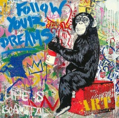 Everyday Life - Mr.Brainwash, Silkscreen and Mixed Media, Street Art