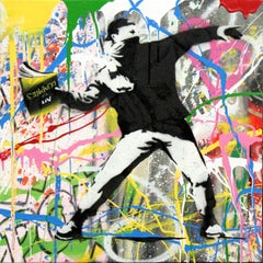Banksy Thrower (3) by Mr. Brainwash