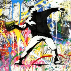 Banksy Thrower (6) by Mr. Brainwash