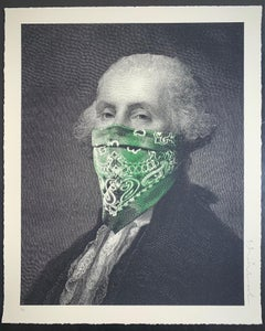 """George Washington President's Day Bandanna"" , 2018 Screen Print On Paper"""