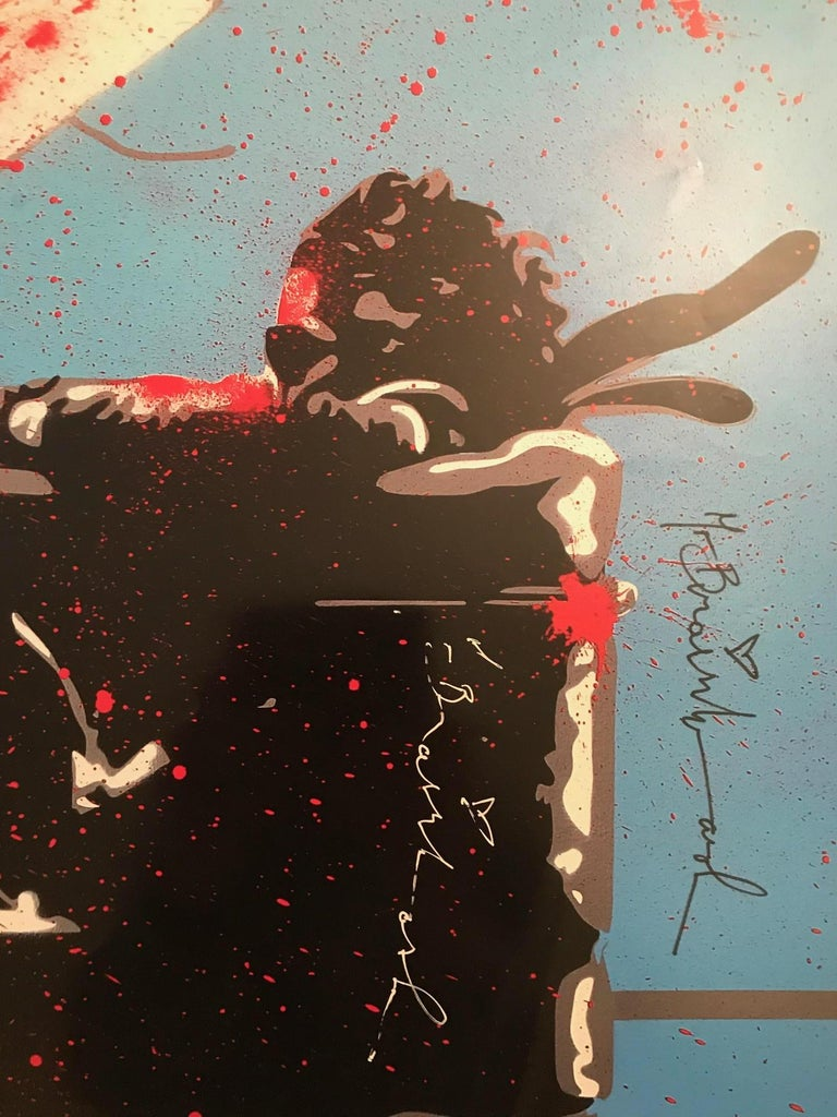 Max Spray Signed Edition NYC Icons Show Signed Very Rare 2010 Mr. Brainwash MBW - Print by Mr Brainwash