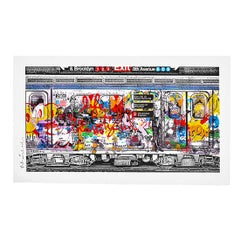 MR. BRAINWASH CHELSEA EXPRESS (Red Hand Finished Unique)