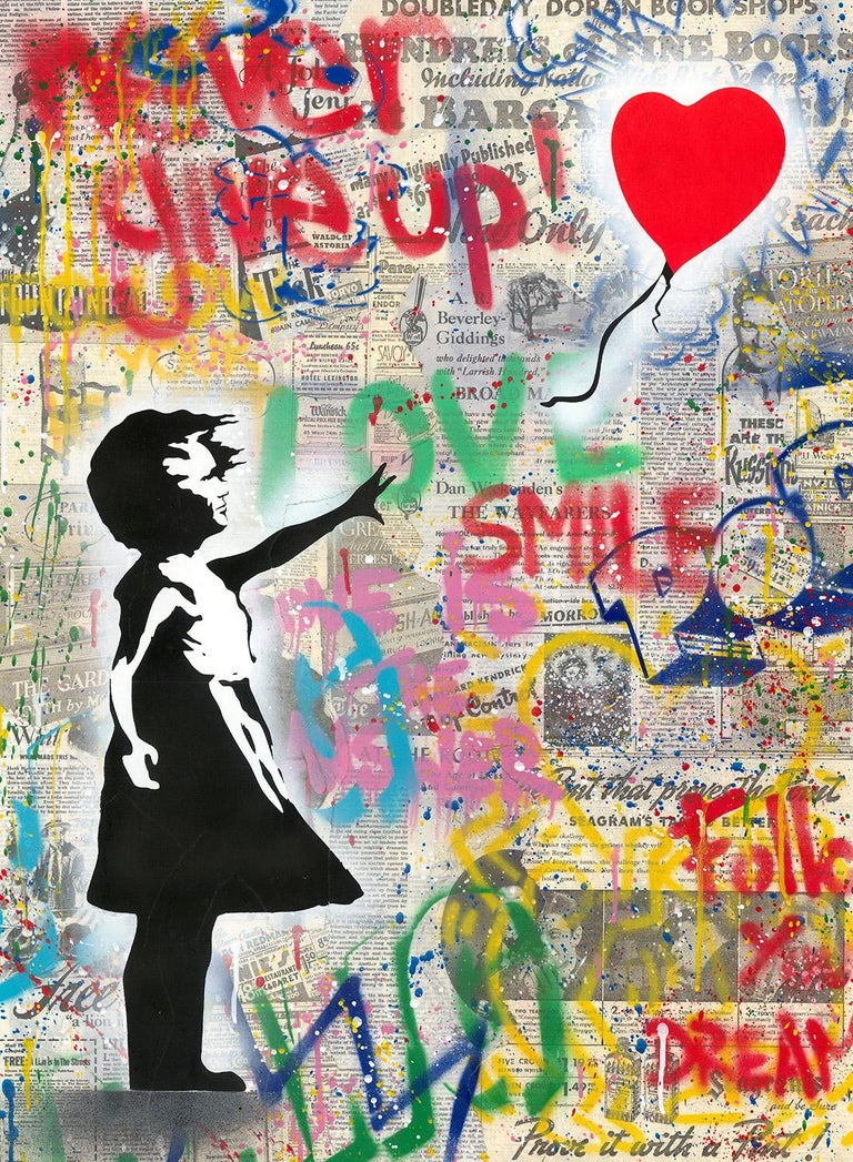 Balloon Girl - Mixed Media Art by Mr. Brainwash