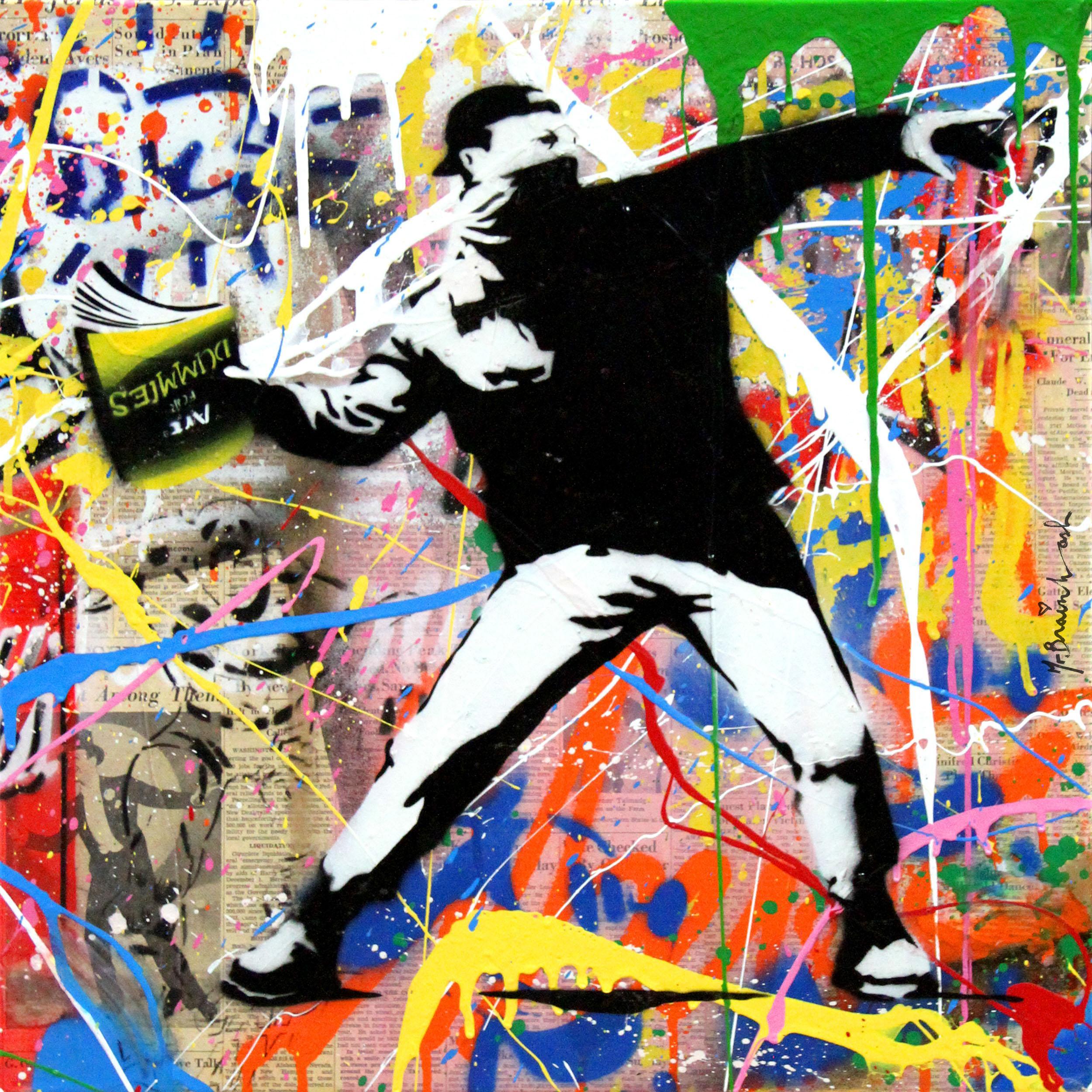 Banksy Thrower (12) by Mr. Brainwash