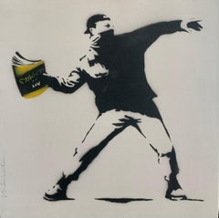 Banksy Thrower (15) by Mr. Brainwash