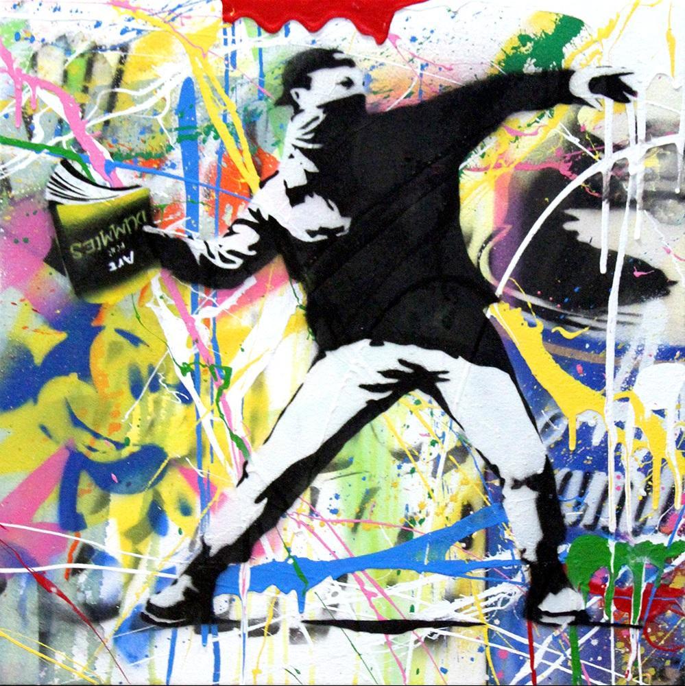 Banksy Thrower (17) by Mr. Brainwash
