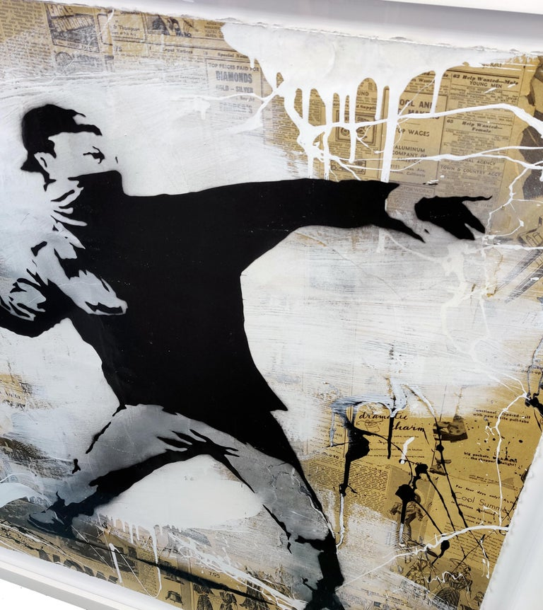 BANKSY THROWER For Sale 1