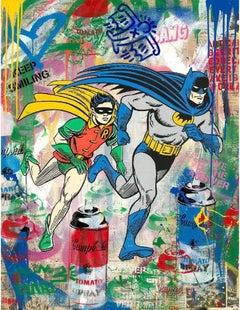Batman & Robin by Mr. Brainwash