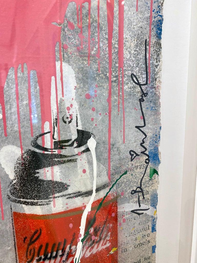 Artist:  Brainwash, Mr. Title:  Chaplin Date:  2019 Medium:  Stencil & mixed media on paper Unframed Dimensions:  30