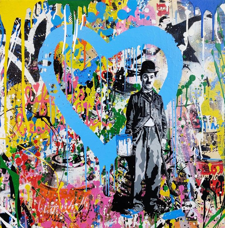 CHAPLIN - Mixed Media Art by Mr. Brainwash