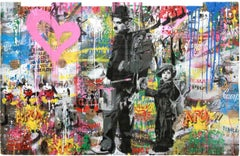 Chaplin & Kid by Mr. Brainwash