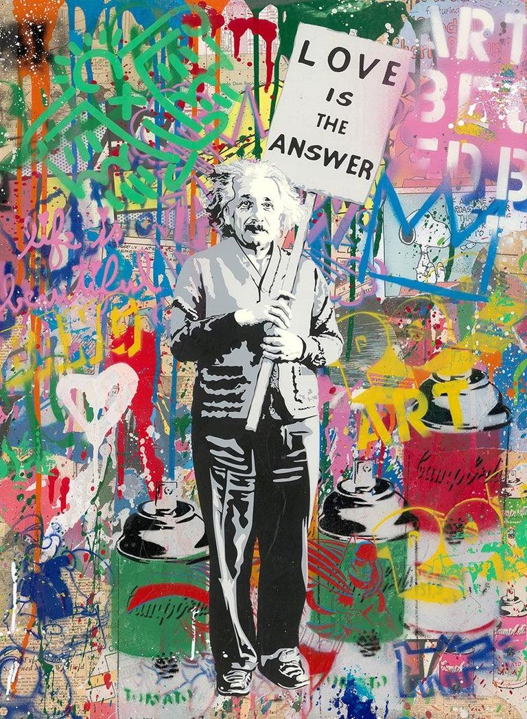 Einstein - Mixed Media Art by Mr. Brainwash