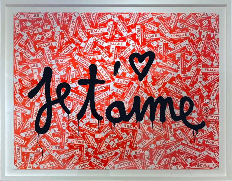 Je T'aime - Mixed Media Art by Mr. Brainwash