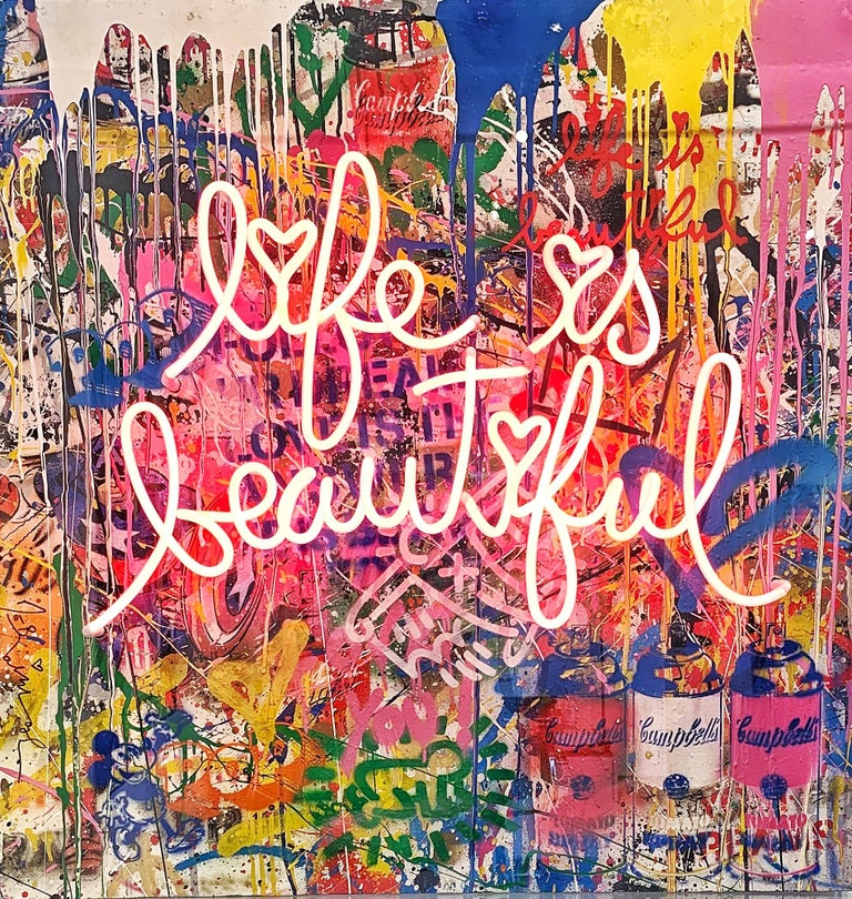 Life Is A Comic Book - Mixed Media Art by Mr. Brainwash