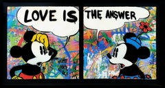 LOVE IS THE ANSWER DIPTYCH (MICKEY & MINNIE MOUSE)