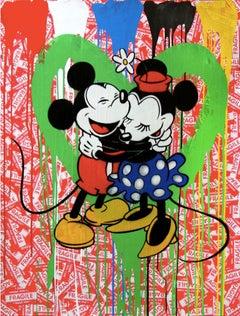 Mickey & Minnie (green heart)