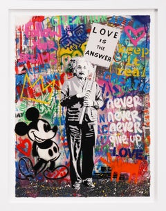 Mr. Brainwash, 'Love Is The Answer' (Unique Painting), 2020