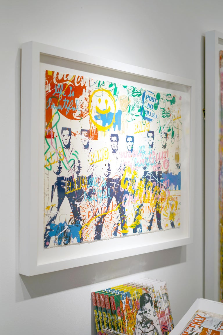Artist:  Brainwash, Mr. Title:  Pop Scene 38 Date:  2020 Medium:  Silkscreen and acrylic on Paper Unframed Dimensions:  22.5