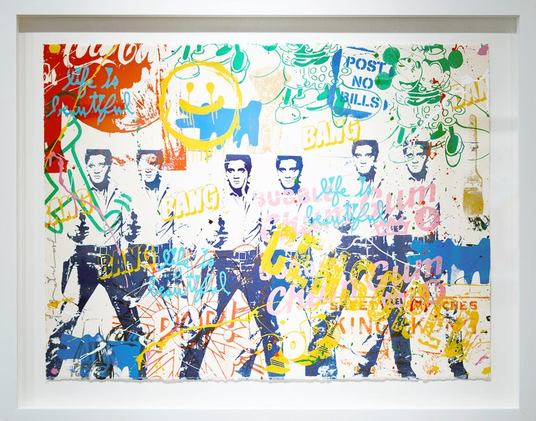 Pop Scene 38 - Mixed Media Art by Mr. Brainwash