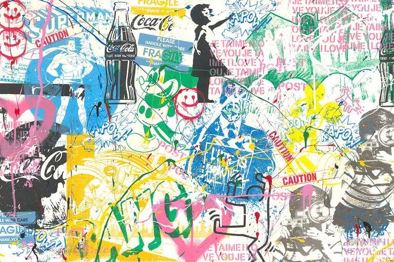 Pop Scene - Mixed Media Art by Mr. Brainwash