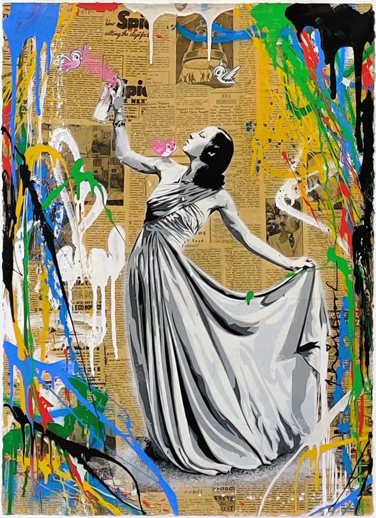Mr. Brainwash Figurative Painting - UNTITLED